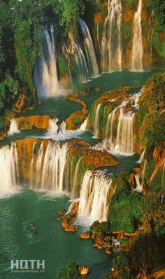 Ban-Gioc fall, (CaoBang - VietNam)  The waterfall is located on the north of VietNam, 89km from Cao Bang town. This is considered the most beautiful waterfalls in Vietnam and is renowned as one of the famous scenic attraction in the world.