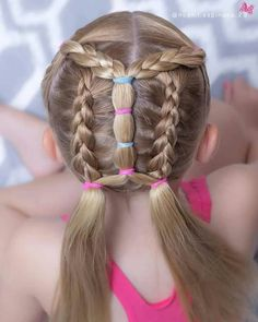 latest pic 160 Braids Hairstyle Ideas for Little Kids latest pic 160 Braids Hairstyle Ideas for Litt Toddler Hair Dos, Easy Toddler Hairstyles, Childrens Hairstyles, Cute Hairstyles For Kids, Pigtail Hairstyles, Baby Girl Hairstyles, Kids Braided Hairstyles, Pretty Hairstyles, Hairstyle Ideas