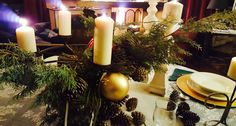Candles on my Christmas' table..!