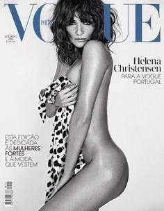 Helena Christensen pose for Vogue Portugal September 2016 Cover