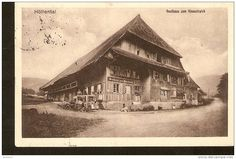 Germany, Hollental - Gasthaus zum Himmelreich - past Freiburg poss in 1915