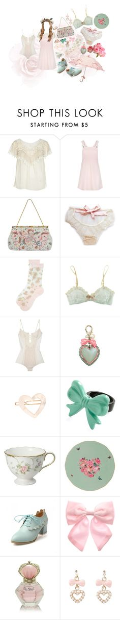 """♡ with your head upon my chest ♡"" by aurenfaie ❤ liked on Polyvore featuring River Island, New Look, Josef, Monsoon, Eberjey, Tarina Tarantino, France Luxe, Royal Albert, Pumpkin Patch and Krista R"