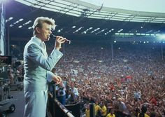 David Bowie at Wembley Stadium, London