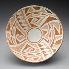 Mimbres - artist unknown. U of MN Weisman Art Museum Collection. The Mimbres, an ancient Native American people, are part of the cultural history of the American Southwest. They lived in the desert valleys of southwestern New Mexico along small rivers flowing from the surrounding mountains and in parts of Arizona and northern Mexico. For a relatively short period—from A.D. 850 to 1150—