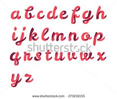 Find Ribbon Script Font stock images in HD and millions of other royalty-free stock photos, illustrations and vectors in the Shutterstock collection. Hand Lettering Alphabet, Calligraphy Alphabet, Brush Lettering, Ribbon Font, Hand Lettering Tutorial, 3d Letters, Script Fonts, Vector Art, Logo Design