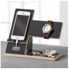 Cell Phone Accessory Stand Valet Tray Watch Display Charging Station Organizer | eBay