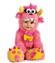 Precious for a baby/toddler girl! Li'l pink monster costume. #Chasing Fireflies #Wishcraft #Halloween