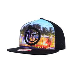 YUMS South Beach 9FIFTY Snapback Cap ($37) ❤ liked on Polyvore featuring accessories, hats, south beach, snap back caps, snapback cap, snapback hats and caps hats