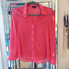 Pink Blouse  Like brand new, worn maybe once. Best color describes picture #1 and #2. It's a mix of peach and pink tones. Countess Tops Blouses
