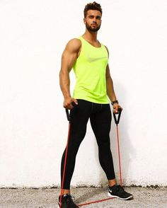 Work hard, Learn, Grow and Create a life you dream about. It takes patience, dedication, sweat and sacrifice to get to the top. Gym Style, Sporty Style, Workout Style, Sport Fashion, Fitness Fashion, Mens Fashion, Gym Outfit Men, Lycra Men, Workout Wear