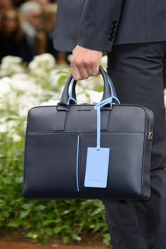 View all the detailed photos of the Dior men& spring & summer 2016 showing at Paris fashion week. Read the article to see the full gallery. Leather Laptop Bag, Leather Briefcase, Mens Luggage, Luggage Bags, Louis Garneau, Briefcase For Men, Leather Bags Handmade, My Bags, Leather Men