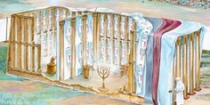 The tabernacle or tent of meeting used by Israel | My Book of Bible Stories | Tags: Jehovah's Witnesses, The Watchtower Bible and Tract Society