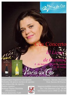 Cea-concerto con Maria do Ceo en Liceo de Ourense, Ourense music musica concerto concierto fado