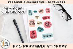 Printable Labels, Printable Stickers, Printables, Journal Cards, Print And Cut, Design Bundles, School Design, Sticker Design, Free Design