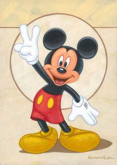 "Disney Fine Art: ""Mickey's Peace Sign"" by Manuel Hernandez:)"