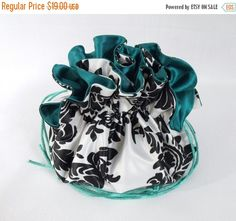 Wedding Bag Satin Bridal Money Purse by JewelryBagsByEdieCas Wedding Bags, White Damask, Satin, Purses, Black And White, Bridal, Trending Outfits, Unique Jewelry, Handmade Gifts