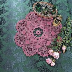 """April, part of Crochet World's FREE Doily of the Month. Get the download here: http://www.crochet-world.com/doily.php?id=2  """"Like"""" the Crochet World Facebook page so you don't miss a single monthly installment: https://www.facebook.com/CrochetWorldMag"""