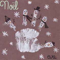 Empreinte bonhommes de neige | jouonsensemble