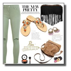 """Gorgeous Pasha Groote Orange Jewelry Sandals"" by markitahamilton3 ❤ liked on Polyvore featuring Lucky Brand, Joe's Jeans, Chanel, Beauty Is Life and MAC Cosmetics"