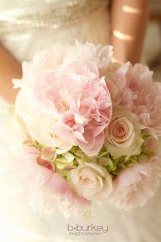 Spring Florals Bouquet Pink, Cream, Green www.bburkeyphotography.com