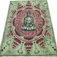 Meditation Buddha Hippie Hippy Wall Hanging Indian Tapestry Throw Bedspread Bed Decor Sheet Ethnic Decorative Art on Etsy, £16.33