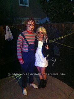 Coolest Homemade Chuckie and Bride of Chuckie Couple Costume  sc 1 st  Pinterest & 65 Coolest Couples Halloween Costumes | Pinterest | Couple halloween ...