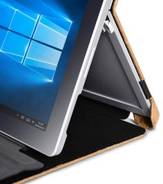 iCarer Surface Pro 4 Shenzhou Genuine Leather Folio Case