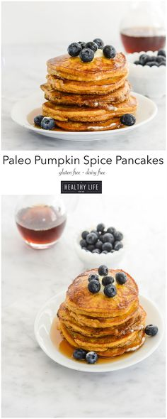 Paleo Pumpkin Spice Pancakes - A Healthy Life For Me