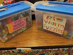 Warm fuzzy classroom management ideas! Amazing!