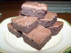 Low Carb Brownies with Frosting