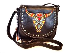 Colorful embroidery longhorn on the flap with magnetic closure. Our price is the best price in the internet, because we boycott wholesaler and buy straight from manufacturer. Made of faux leather, this messenger handbag has. | eBay!