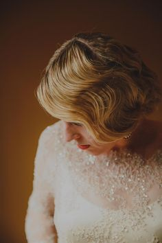 Finger Waved Bridal Hair An Elegant Spring Vintage Wedding From Lavara Photography