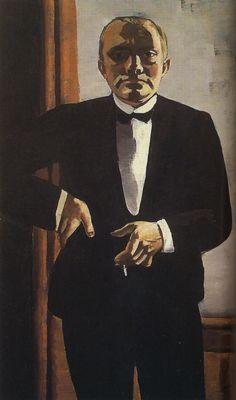 Max Beckmann, Self Portrait in Tuxedo