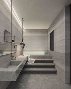 Dreaming of a designer or luxury bathroom? We've gathered together lots of gorgeous bathroom ideas for small or large budgets, including baths, showers, sinks and basins, plus bathroom decor ideas. Best Interior Design, Bathroom Interior Design, Luxury Interior, Bad Inspiration, Bathroom Inspiration, Home Decor Instagram, Contemporary Bathroom Designs, Contemporary Interior, Interior Minimalista