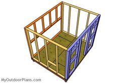 Assembling the chicken coop frame