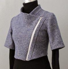 Fantastic Crop Moto Jacket - Jean Kaori Designs