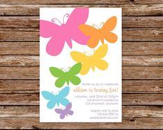 Custom Printable Butterfly Birthday Party Invitation. $10.00, via Etsy.