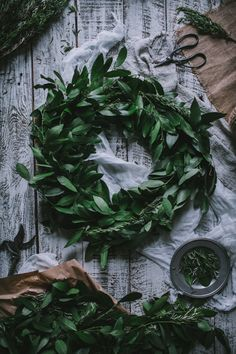simply-divine-creation: DIY Winter Bay and Rosemary Leaf Natural Christmas, Noel Christmas, All Things Christmas, Winter Christmas, Christmas Wreaths, Christmas Decorations, Holiday Decor, Xmas, Pear Brandy