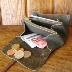 LEATHER COIN PURSE CARD HOLDER от robertoconticini на Etsy