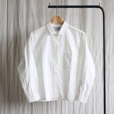 Regular Collar Wide Shirt #white