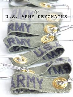 Military patch keychain.                                                       …