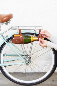 DIY Wine Bottle Carrier   BIKE GIVEAWAY! @LovelyIndeed