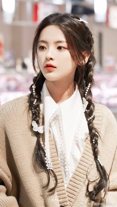 Canti, Kdrama Actors, Chinese Actress, Girl Crushes, Hair Inspo, Korean Girl, Cute Girls, Fiction, Hairstyle