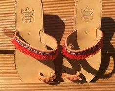 handcrafted sandals and jewels by TRELLOBELLO on Etsy