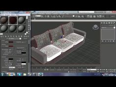 learning 3DS MAX modeling sofa with leather - YouTube