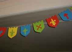 medieval bunting in the right colors                                                                                                                                                                                 More