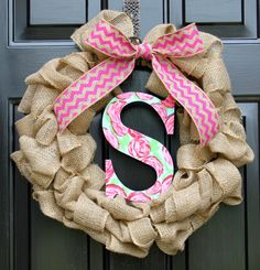 Lilly Pulitzer inspired wreath Summer wreath by OurSentiments, $75.00