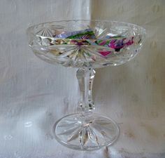 Compote Candy Dish Austrian Lead Crystal by EauPleineVintage
