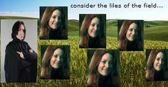 "hehe ""consider the lilies"" Mormon meme/harry potter"