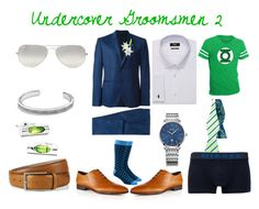 """""""Undercover Groomsmen 2"""" by zigzag433 on Polyvore featuring Ray-Ban, David Yurman, Diesel, Laura Cole, women's clothing, women's fashion, women, female, woman and misses"""